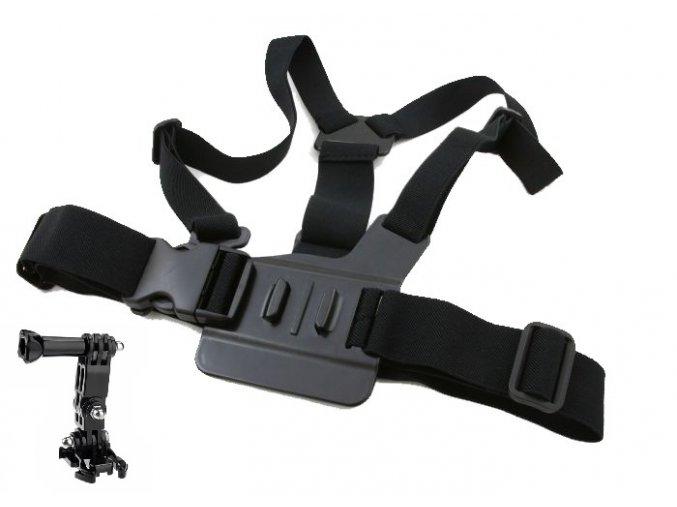 Držák na prsa Chest MOUNT Harness na Gopro + třísměrný otočný kloub