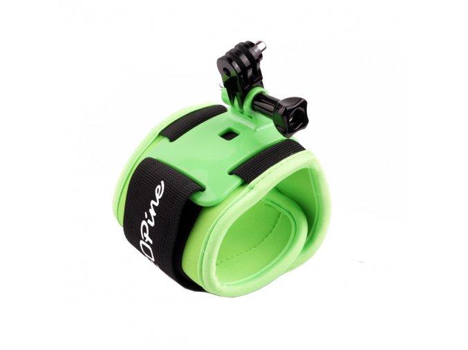 Držák na zápěstí Wrist Strap Arm Bands green na kameru GoPro, SJ4000, Aee a jiné