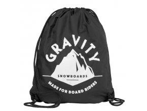 Gravity pytlík Peak Cinch Bag black
