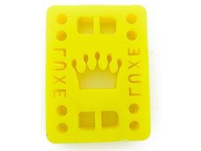 "Luxe podložky na longboard Riser Pads Yellow 1/8"" 3mm 2ks"