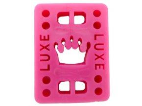 "Luxe podložky na longboard Riser Pads pink 1/2"" 12mm 2ks"