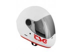 TSG Pass Solid integrální helma white